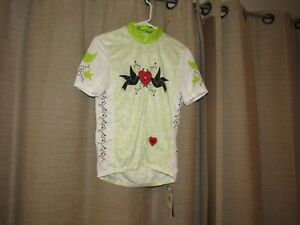 NWT new PEARL IZUMI junior limited cycling jersey shirt 2XL Doves lime