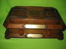 ANTIQUE /VINTAGE WOODEN PEN AND INK STAND WITH DRAWER