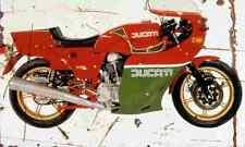 Ducati 900MHR 1980 Aged Vintage SIGN A4 Retro