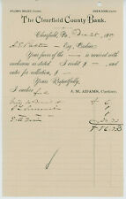 1889 Clearfield County Bank Letterhead Account Statement PA Banking History