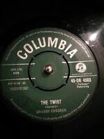 "Chubby Checker – The Twist Vinyl 7"" Single UK DB 4503 1960"