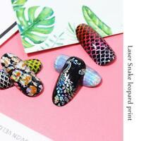 16pcs/set Mix Holographic Flower Nail Foil Decal Nail Art Transfer Sticker Decor