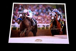 Arrogate California Chrome Signed Poster Espinoza Smith Horse Racing SGA Proof