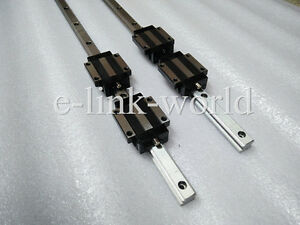 2 sets  HSR25--2950mm Hiwin Linear rail & 4 pcs HSR25CA Bearing