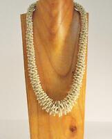 """25"""" Handmade Glass Seed Bead LONG Lizzy Bali Design Necklace"""