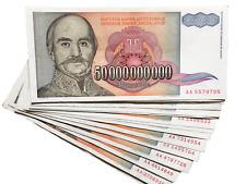 50000000000 P-193 World Currency Dinara 1993 YUGOSLAVIA 50 Billion