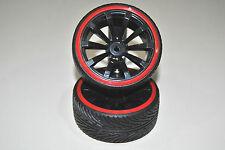 009A002B Par RUEDAS Drift Círculo Negro 1/10 HIMOTO /NEUMÁTICO