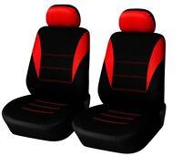 2 vordere Sitzbezug Sitzbezüge Schonbezüge Set Rot für Citroen Dacia Fiat Ford