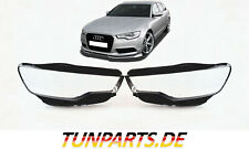 Scheinwerfer Glas für Audi A6 C7 4G vor Facelift Linsen Streuscheiben Abdeckung