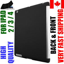 Black iPad 2 3 4 Case Back Gel & Front Leather Smart Cover A1458 A1416 Retina