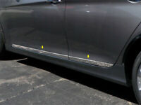 fit:2015-2019 Hyundai Sonata Flat Body Side Molding Trim BBL 4Pc 2 1/2""