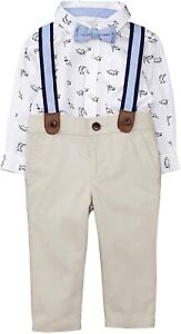 Gymboree baby boy Dino Suspenders Set