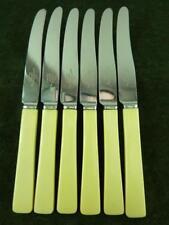 6 Vintage Joseph Elliot Tea Butter Knives Ivory coloured resin handle