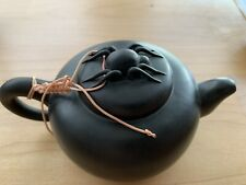 """5.7"""" X 3"""" Chinese Yixing Zisha Dark Handmade Teapot By Feng Lanxian"""