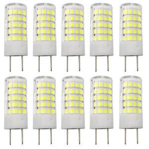 G8 LED Lights Bulb 64-2835 AC/DC 12V Light 5W Ceramics Lamp Pack of 10