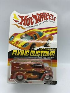 Hot Wheels Flying Customs DAIRY DELIVERY RLC Real Riders RR Die-Cast Car Limited