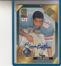 """2003 TOPPS HALL OF FAME ELVIN BETHEA """"TOPPS CERTIFIED/HOU OILERS"""" AUTOGRAPH AUTO"""