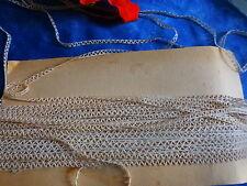 7m,20  mercerie ancienne ,écrue ,picot,entre-deux  coton,pour  petits vétements
