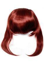 Clip-In Pony Extensions lange Seitensträhnen glatt 30cm Rot (350) TYQ055-350