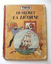 HERGÉ . TINTIN : LE SECRET DE LA LICORNE . CASTERMAN . 1952 . B7