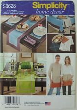 Simplicity 1336 Placemats Dish Towel Apron Tablecloth Pot Holder Sewing Pattern