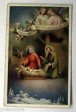 CPA JOyeux Noel Jesus etable Bethleem Hosanna in excelsis  postcard