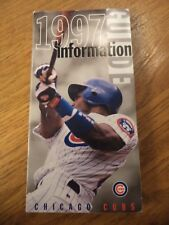 1997  CHICAGO CUBS INFORMATION MEDIA GUIDE