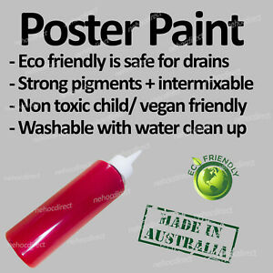 Poster Paint Red Non-toxic Vegan Friendly Allergy Free Safe to Use