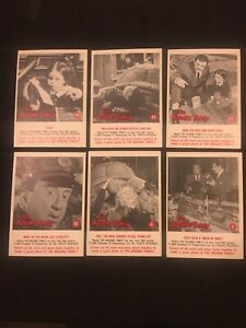 VTG Trading Cards The Addams Family 1964 Lot Of 6 Adams Family #4,8,32,36,41,43
