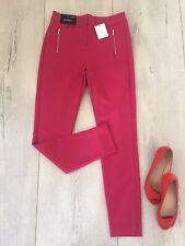 🌸 Next Uk8 L28 Reg Trousers Skinny Slim Ankle Cigarette Raspberry Pink High Ris