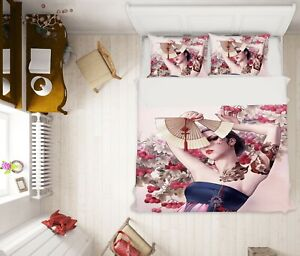 3D Fan Woman NAO9250 Bed Pillowcases Quilt Duvet Cover Set Queen King Fay
