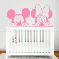 Cartoon Mickey Minnie Mouse Vinyl Wall Sticker Decal Kids Baby Room Nursery Home