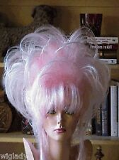 SIN CITY WIGS BABY PINK UP DO TWIST BANGS TEASED SPIKY LAYERS BIG GLAMOROUS HOT