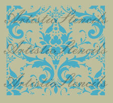 STENCIL Vintage French Damask No 28   10x11