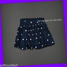 Abercrombie & Fitch Womens Bettys Cami NAVY BLUE w/ WHITE DOTS Skirt M MEDIUM
