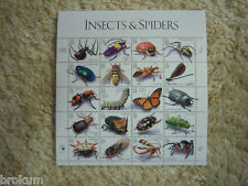Insects & Spiders Full Pane 33¢ Stamps #3351 ~ Unused