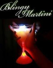 6 New Blingy Martini Plastic Light up Barware cups with Led activated by sound
