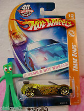 2008 i 40th Hot Wheels Track Stars TRAK-TUNE #112 ∞ yellow