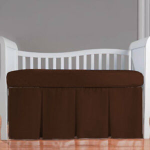 Unisex Baby Bedding Front 3 Pleat Skirt Solid Colors Size Crib/Mini crib/Toddler