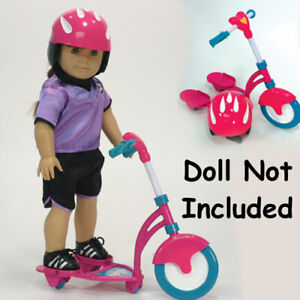 """New in Box Doll Scooter with Helmet for 18"""" Play Dolls #SD1037 by Sophia's"""