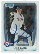 Will Lamb Texas Rangers 2011 Bowman Chrome Authentic Autograph COA