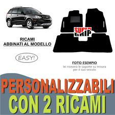 PER CHEVROLET CAPTIVA TAPPETI PER AUTO MOQUETTE E FONDO GOMMA + 2 RICAMI EASY