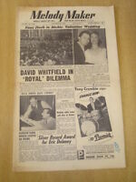 MELODY MAKER 1954 OCTOBER 30 DICKIE VALENTINE WEDDING DAVID WHITFIELD DECCA JAZZ