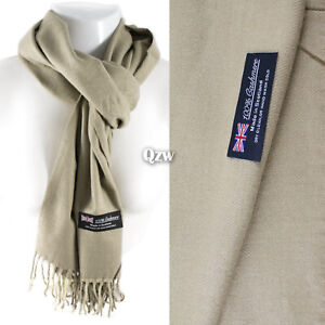 Womens Men 100% Cashmere Winter Warm Soft Scarf Scotland Made Scarves Wrap Wool