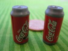 Barbie AIRPLANE FUN SHIP JET PLANE Food Replacement Lot of 2 Coke Coca Cola Cans