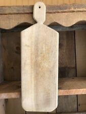Primitive Antique Wood/Wooden French Bread Cutting Board Original Surface Prim