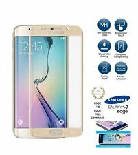 3D Curved Bubble Free Tempered Glass Screen Protector For Samsung S7 Edge GOLD