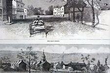 Beatty HARMONIST Town of ECONOMY Main Street Pennsylvania 1887 Matted Art Print