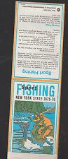 Sport Fishing New York State 1975 1976 Brochure