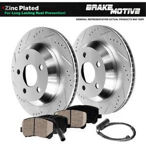 Rear Drill Slot Brake Rotors & Ceramic Pads For Mercedes-Benz Maybach S550 S550E